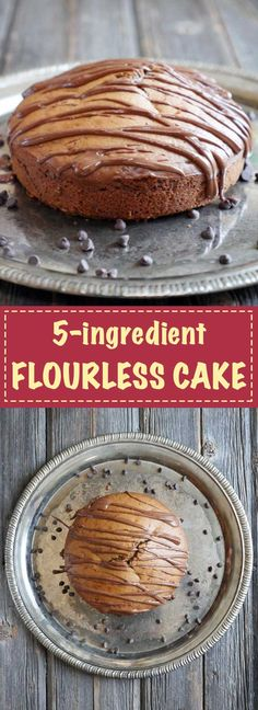5-ingredient flourless cake!! it can be made with ANY nut butter. Recipe by Ashley of myheartbeets.com