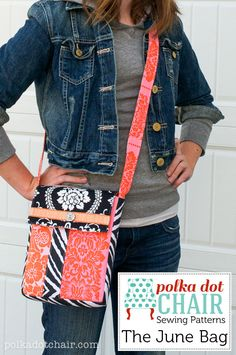 The June Bag- a simple cross body bag sewing pattern