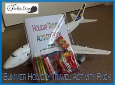 Summer Travel Activity Pack - Children's Entertainments - Puzzles and Colouring Airplane Theme Travel Activities, Travel Themes, Summer Travel, Holiday Travel, Diy Postcard, Diy Crayons, Rock Design, Colouring Pages, Booklet