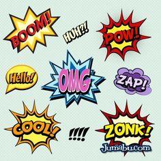 Onomatopeyas en Vectores Comics   Jumabu! Design Tools - Vectorizados - Iconos - Vectores - Texturas