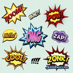 Onomatopeyas en Vectores Comics | Jumabu! Design Tools - Vectorizados - Iconos - Vectores - Texturas