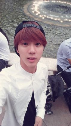 BTS Tweet - Jin (selca)  140715  --- BTS at LA for filming AHL