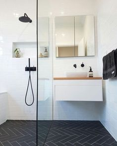 """Almost three quarters of clients who contact us looking for a bathroom renovation quote in Perth will often start out by saying """"i have a really small bathroom"""". So the right type of advice is crucial…More Compact Bathroom, Bathroom Faucets, Modern Bathroom, Condo Bathroom, Bathroom Mirrors, Family Bathroom, Minimalist Bathroom, Bathroom Cabinets, Bathroom Lighting"""