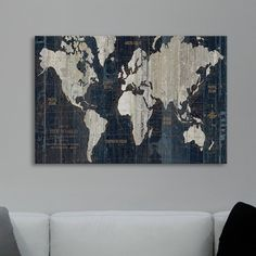 Cost plus world market blue old world map room living rooms and old world map graphic art print on wrapped canvas gumiabroncs Gallery