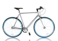 Leader 28 Singlespeed Bike NXS-3 Silbergrau 56cm 56cm - empfohlen für 1,70-1,80m