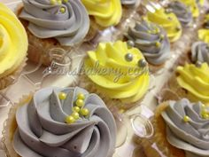 gray and yellow wedding cupcakes | Recent Photos The Commons 20under20 Galleries World Map App Garden ...