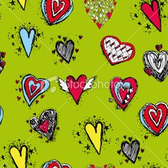 vector seamless pattern of heart Royalty Free Stock Vector Art Illustration