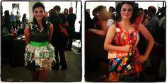 crazy cool dresses from the #trashion #fashion show, made with #recycled materials.