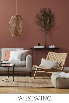 Boho Living Room, Living Room Colors, Home And Living, Living Spaces, Bedroom Wall Designs, Diy Bedroom Decor, Living Room Designs, Home Decor, Tapete Beige