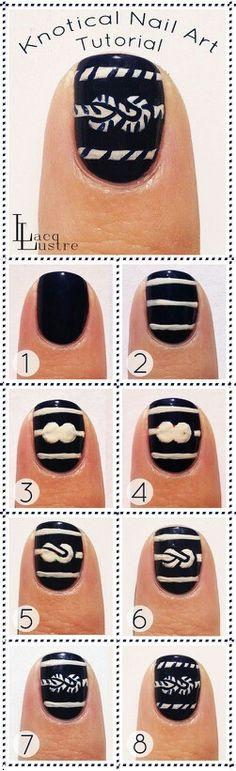 Knotical nail art