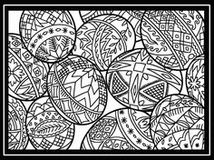 Free printable Easter egg collection coloring page