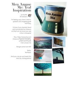 Men amuse me: Teal inspiration from Etsy