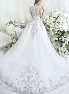 Dar Sara Wedding Dresses 2014 Collection with Glamorous Swarovski Crystals wedding #weddings #wedding_dress