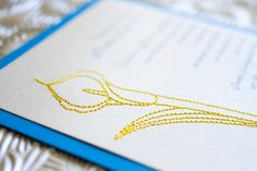 Embroidered Lily Wedding Invitation (Blue, Yellow and Silver) - Design Fee Unique Wedding Invitations, Wedding Invitation Cards, Wedding Themes, Wedding Ideas, Invitation Ideas, Invites, Wedding Inspiration, Wedding Embroidery, Lily Wedding