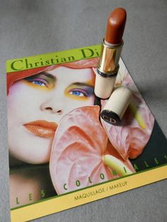 Vintage Christian Dior lipstick. Colour # 392 Ocre de Tyr/ Tyre Ochre. Released in 1986 as part of the Le Coloniales range and bought by myself at the department store Harvey Nichols, Knightsbridge, London in that year. The lipstick had not been used much so it still has most of its stick remaining. It is a warm, orange/copper colour (no shimmer) and very clean.It comes with the Christian Dior brochure from the same date.Measurements: Lipstick holder = 2.75 inches / actual stick of lipstick…