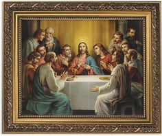 last supper framed print under glass exceptional artwork these last supper images are beautifully