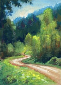 """""""Your path is beautiful and crooked and just as it should be..."""" (Image: The Long and Winding Road ACEO Limited by ArtByMaryRochelle,)"""