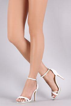 Qupid Crisscross Ankle Strap Stiletto Heel