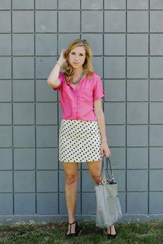 Bright pink with b&w pattern :: sidewalk ready