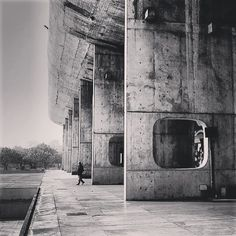 Palace of Assembly, Chandigarh, by Le Corbusier, 1955.