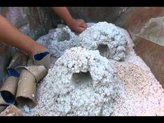 Passo a passo confecção de Pedras porosas para Aqu - YouTube