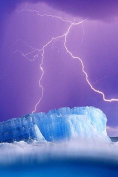 Nature, Lightning, Purple, Blue