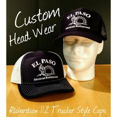 See what BigDog's Graphics can do for you; these navy/white caps/hats are just a few completed for our friends of El Paso Mexican Restaurant of Bailey & Princeton, NC. #caps #hats #mexicanrestaurant #baileync #princetonnc #headwear #heatpress