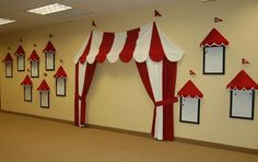 Fun indoor circus tent