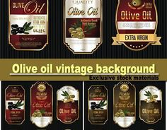 """Check out new work on my @Behance portfolio: """"Olive Oil Label Graphic Pack"""" http://be.net/gallery/47990927/Olive-Oil-Label-Graphic-Pack"""