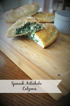 Spinach Artichoke Calzones: Your favorite dip combination is transformed into the filling for a calzone. Your pizza night has been completely revolutionized.