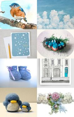 Little bluebird by Carey Ann on Etsy--Pinned with TreasuryPin.com