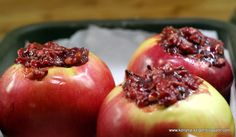 Baked apple stuffed with cranberries&nuts