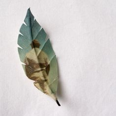 Custom made Himalayan strawberry tree leaf made of cotton printed with your photograph. $39.00, via Etsy.