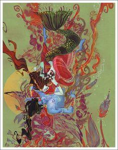 "Illustration from ""KRISHNA: A Journey Within"". by Abhishek Singh"