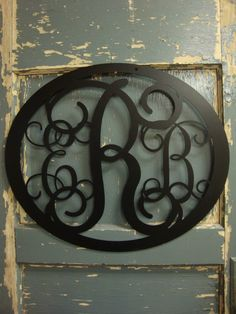 Metal Monogram.  Personalized, traditional 3 letter monogrammed door or wall hanging: the perfect gift for a baby shower, wedding or