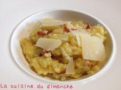 Risotto safrané au chorizo et parmesan