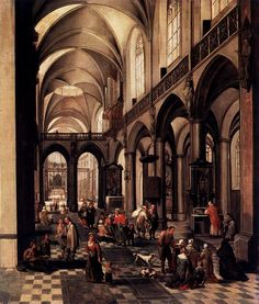 Peeter Neeffs (I) - Interior of a Flemish Church - oil on panel, Height: 84 cm (33.1 in). Width: 72 cm (28.3 in) Prado Museum, Madrid, Spain Pieter Neeffs I (also Neefs; c. 1578 – after 1656) was a Flemish Baroque painter who specialized in...