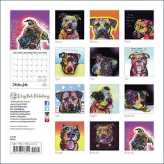 Painted Pit Bulls by Dean Russo 2014 Calendar is NOW AVAILABLE on our website.