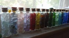 Rainbow In The Window: ~ sea glass contest photo was submitted by Suzanne Reichert Where was this photo taken? The glass has been collected over 5 years in the Cleveland Ohio