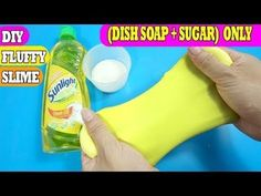 Shampoo Slime 2 Ingredients With Salt Without Glue or Borax Slime With Shampoo, How To Make Shampoo, Clear Shampoo, How To Make Slime, Borax Slime, Slime No Glue, Diy Slime, Dish Soap Slime, Toothpaste Slime