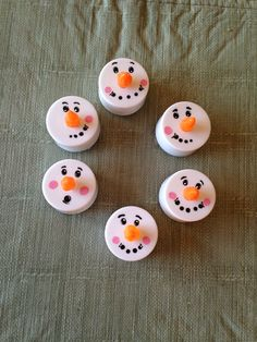 Christmas bazaar idea. Battery operated tea lights from the dollar store. Silicone mixed with orange paint for the nose, magnet glued on back.