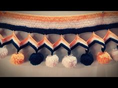 Knitting Border (Scallop Border) with knitting & Crochet !!!! - YouTube