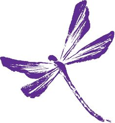 Purple dragonfly, the symbol of eating disorder awareness