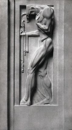 Weinhaus Rheingold (1907) Kunst (Art) Haut relief de la façade sur rue. Architecte : Bruno Schmitz, sculpteur : Franz MetznerKunst ©GB