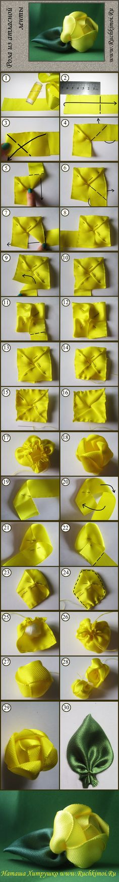 New Pics ruybang Ribbon Flower Strategies I really could very easily include entitled this specific posting tactics to produce bow flow Ribbon Art, Diy Ribbon, Fabric Ribbon, Ribbon Crafts, Flower Crafts, Ribbon Bows, Fabric Crafts, Sewing Crafts, Ribbons