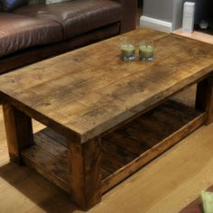 Reclaimed Chunky Rustic Pine Solid Wood Coffee Table