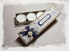 Telys i avlang eske Napkin Rings, Charms, Presents, Homemade, Scrapbooking, Tutorials, Design, Home Decor, Products