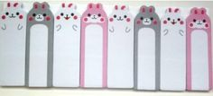 Bears  Rabbits Animal Novelty Kawaii Sticky Notes Memo Pad Label Bookmark Stationery Gift Idea: Amazon.co.uk: Office Products