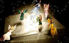 Book of fairy tales 3 by MathildeE on DeviantArt Fairy Wallpaper, Disney Movie Characters, Elves And Fairies, Magic Book, Magical Creatures, Faeries, Pretty Pictures, Cool Art, Awesome Art