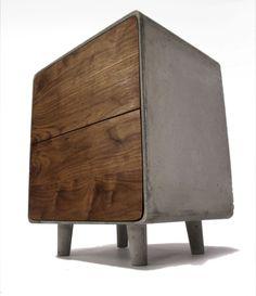 simple/ clean concrete wood combo